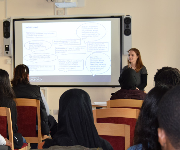 Marchella Ward gives presentation to social mobility foundation visitors from London