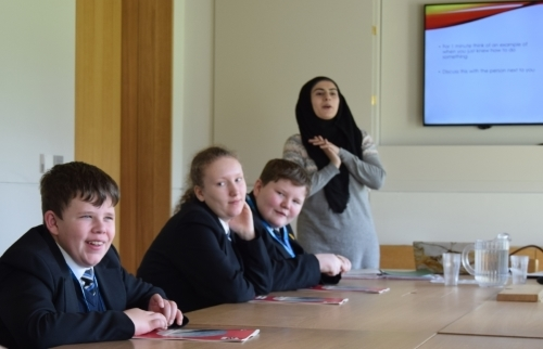 Philosophy class for school pupils at Worcester