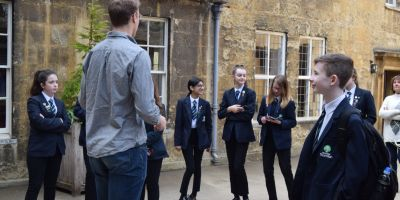 School students on a tour of worcester