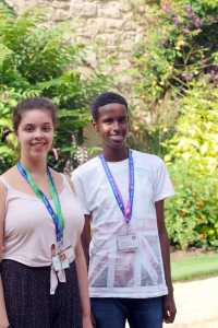 Abdisalan and Jasmine are staying at Worcester for the summer residential course.