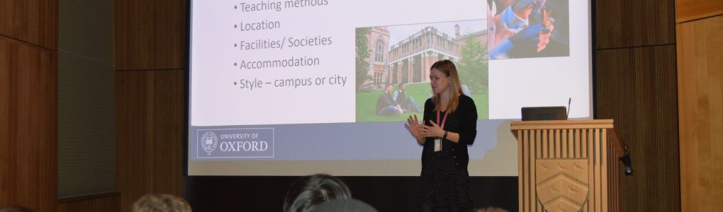 Access and Admissions Officer giving a talk on university
